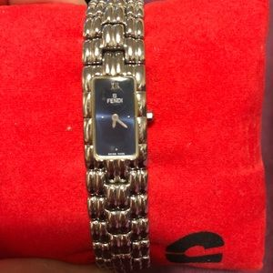 Authentic small Fendi Blue dial womens watch